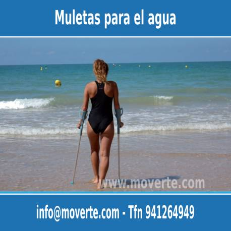 Muleta de agua playa piscina