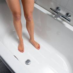 Antideslizante ducha en tiras adhesivas.
