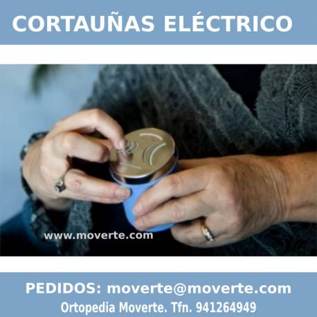 Corta uñas eléctrico Nailmaid ortopedia moverte