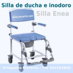 Silla con wc y silla para ducha color azul Ortopedia Moverte
