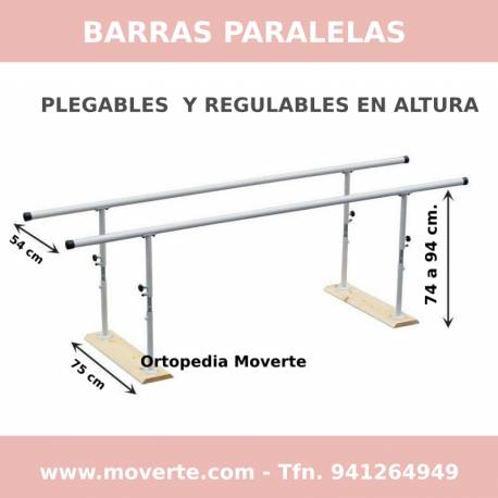 Comprar Paralela plegable regulable en altura 3 m