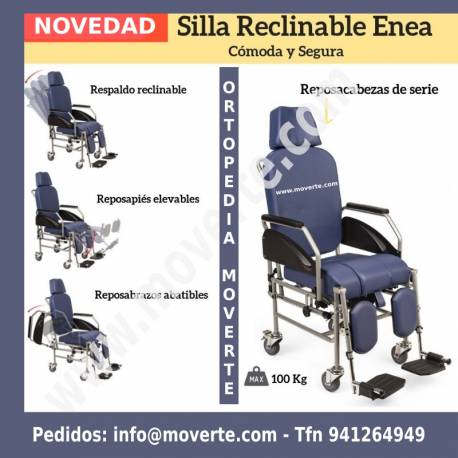 BUTACA DE INODORO RECLINABLE ENEA