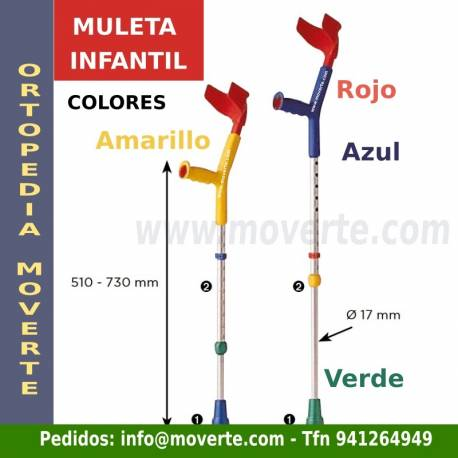 Muleta de colores para niños