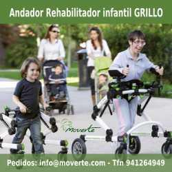 Andador y rehabilitador de la marcha 'Grillo'