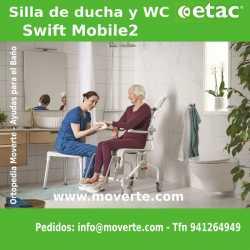 Silla higiénica ducha/wc Etac Swift Mobil-2
