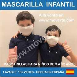 Mascarilla Infantil reutilizable Negra
