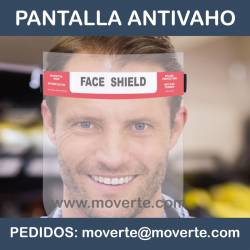 Pantalla facial antivaho ajustable espuma interior