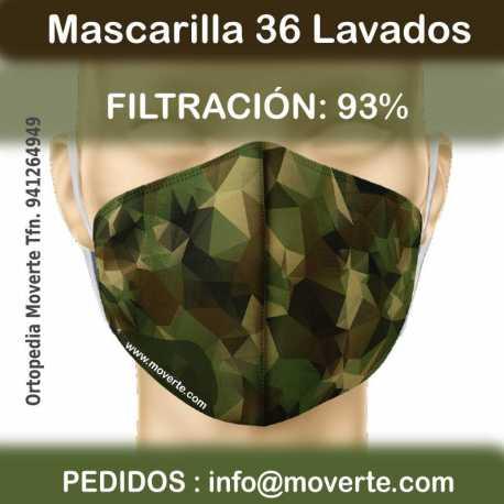 Diseño Mascarilla personalizable 36 lavados.