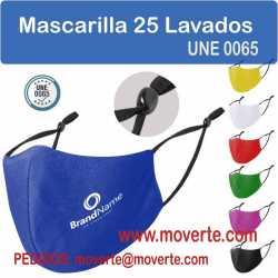 Mascarillas de colores 25 lavados mascarilla para empresas