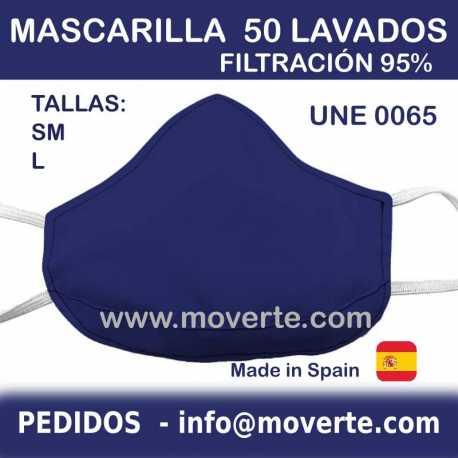 Mascarilla higiénica 50 lavados  Talla L y MS