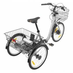 Triciclo Eléctrico con cesta delantera y trasera Monty.