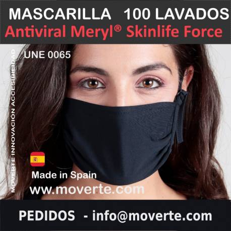 La Mascarilla 100 Lavados Antiviral Meryl Skinlife Force
