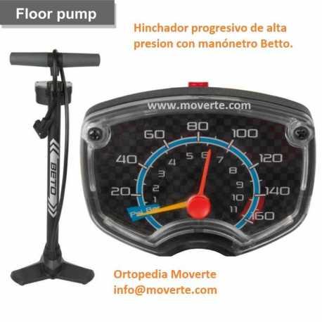 Hinchador ruedas de alta presion con manónetro Betto.