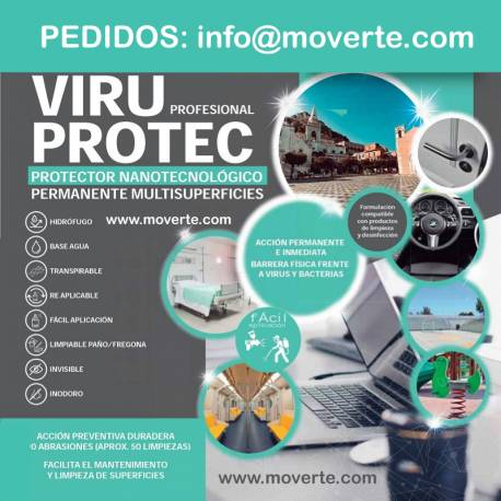 VIRUPROTEC PROTECTOR VIRUS Y BACTERIAS EN SUPERFICIES