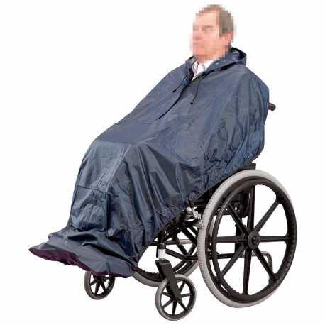 Chubasquero impermeable sin mangas silla ruedas.