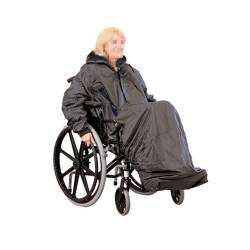 Chubasquero con mangas para silla ruedas