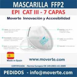 MASCARILLA FFP2  7 CAPAS EPI CAT III 7 CAPAS Geomask 7.1