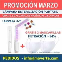 OFERTA ESTERILIZADOR UVC LED GRATIS 2 MASCARILLAS