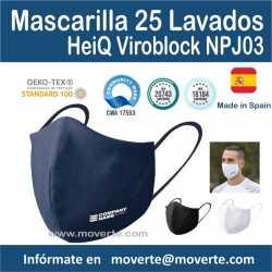 oferta especial mascarilla 25 lavados tratamiento Covid 19 Hiq Viroblock