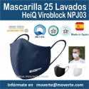 Oferta Mascarilla Hiq Viroblock 25 lavados UNE-CWA 17553:2020.