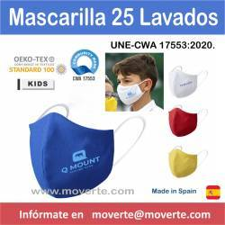 MASCRILLA HIGIÉNICA INFANTIL 25 LAVADOS