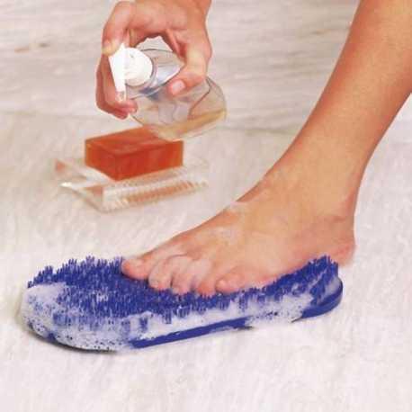 Cepillo ventosa para lavar pies sin agacharse