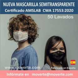 MASCARILLAS SEMITRANSPARENTES EMOTION 50 LAVADOS
