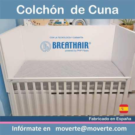 El colchón para cuna antiasfíxia Breathair.