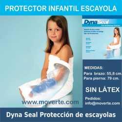 Protector infantil de escayolas pierna y brazo.