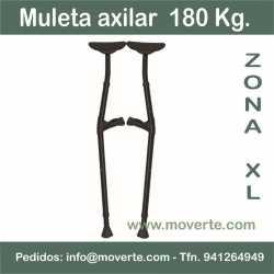 Muleta axilar Bariátrica - 180 Kg.