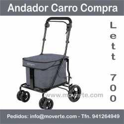 Andador con asiento y carro de la compra Lett 700