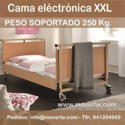 Cama electrónica que soporta 230 Kg. Alura Low XL