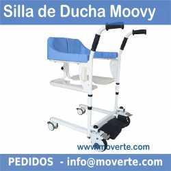 SILLA DE DUCHA WC Y TRANSFERENCIA MOOVY