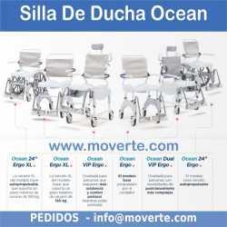 Ocean Ergo - silla estándar, 4 ruedas con freno