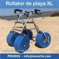 Andador de playa con asiento XL