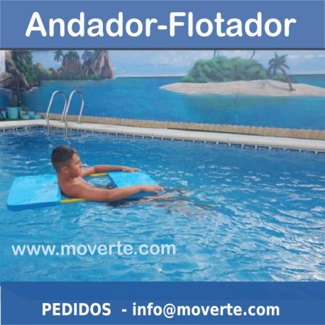 Andador flotador para piscina o playa