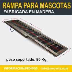 Rampa perros madera antideslizante 165x43cm