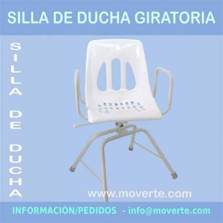 Silla de ducha con asiento giratorio