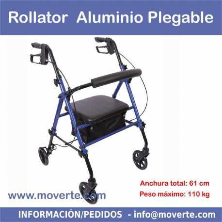 Rollator barato de aluminio con frenos y asiento regulable
