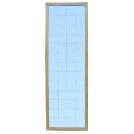 Espejo fijo a pared con luna cuadriculada - 166x54 Cm.