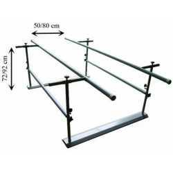 Paralela de 2 metros  plegable regulable en altura y anchura