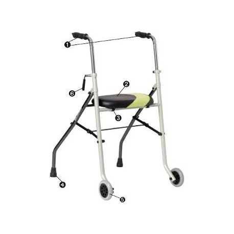 Rollator de 2 ruedas Actio2