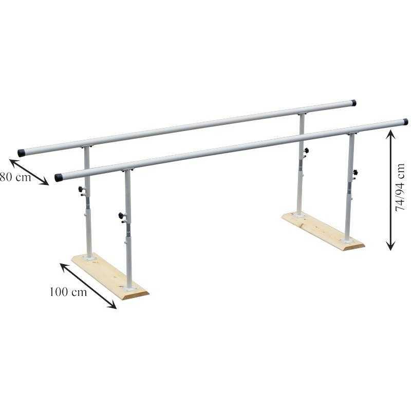 Paralela plegable 2 5m regulable en altura ancho especial for Altura silla