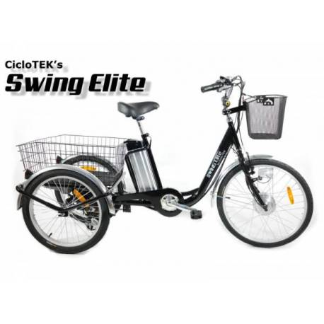 Triciclo Eléctrico Swing ELITE PLUS Negro