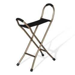 Bastón con 4 patas y con asiento