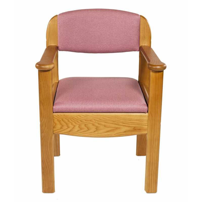 Silla de wc de madera royal ayudas dinamicas for Sillas wc para enfermos