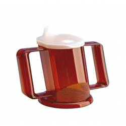 Taza Handycup con tapa. Rojo