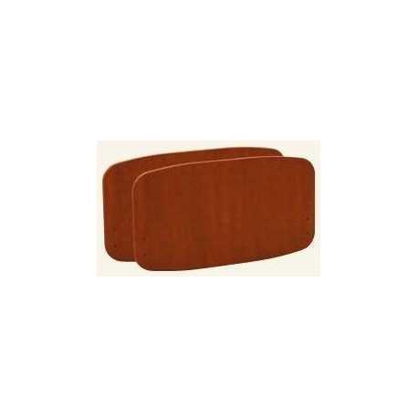 Paneles Sabrine (par) - cerezo - barandillas metal