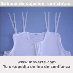 Sábanas de sujeción con cintas en hombros