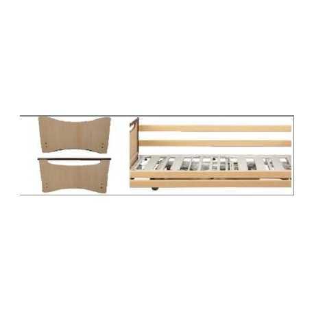 Paneles de cama Carmen II+barandilla de madera